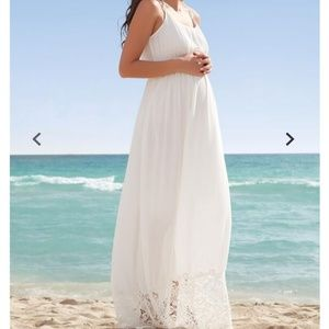 Motherhood Maternity Lace Hem Maternity Maxi Dress